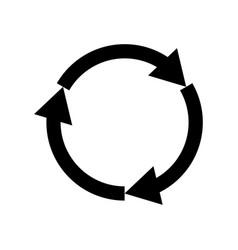 Three circle arrows vector
