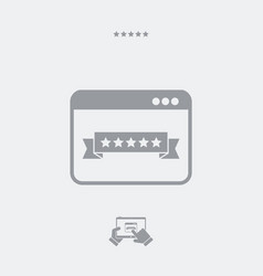 Top rating web icon vector