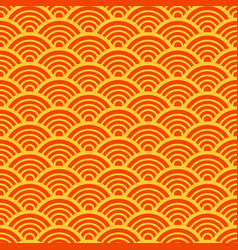 Traditional asian wave pattern vector