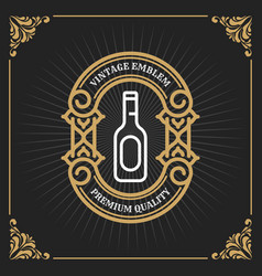 vintage luxury banner template design for label vector image