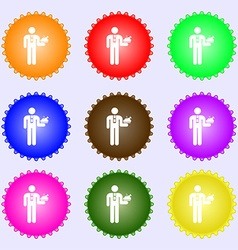 Waiter icon sign Big set of colorful diverse vector image
