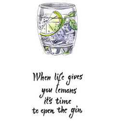 When life gives you lemons its time to open vector
