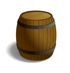 wooden barrel isolated on white background vector image