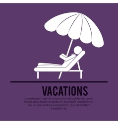 beach vacations design vector image