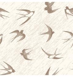 Bird swallow seamless vector image