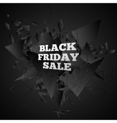 Black friday sale Abstract black explosion vector image
