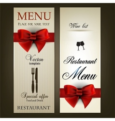 Menu design for Restaurant or Cafe Vintage vector image vector image