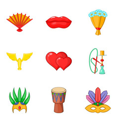 rite icons set cartoon style vector image vector image