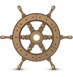 ship wheel vector image vector image