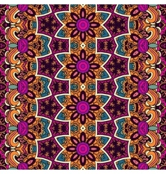 Abstract festive floral ethnic tribal pattern vector