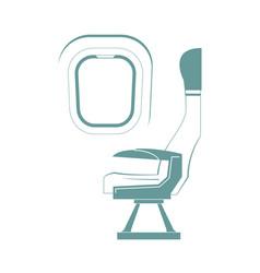 aircraft seat vector image