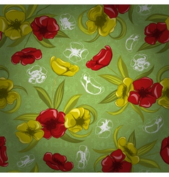 colorful floral pattern vector image vector image