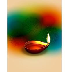 happy diwali design vector image vector image