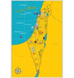 Israel map vector image vector image