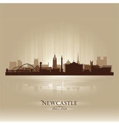 Newcastle England skyline city silhouette vector image