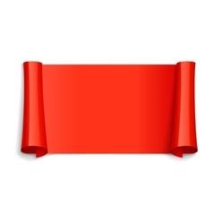 Red glossy ribbon vector