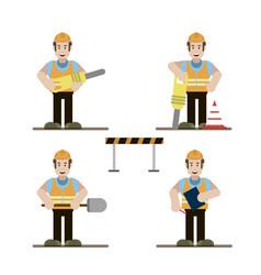 road worker set vector image