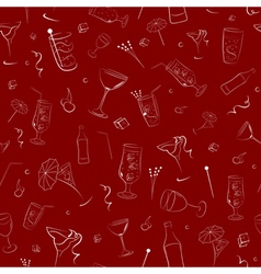 Seamless pattern on alcohol vector image vector image