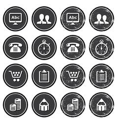 Website internet icons set vector image vector image