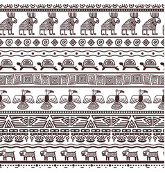 ethnic aztecs or peruvian pattern template vector image