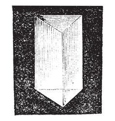 Optical prism vintage engraving vector image vector image