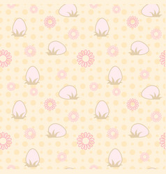 Seamless easter abstract delicate background vector