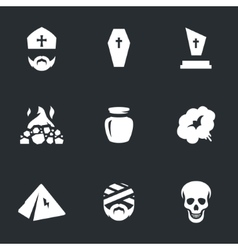 Set of Funeral vector image