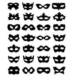 silhouette of festive masks vector image vector image