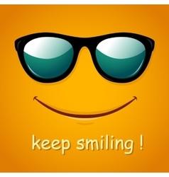 Smiley face yellow smile poster vector