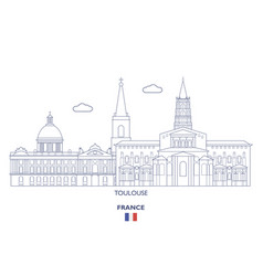 Toulouse city skyline vector