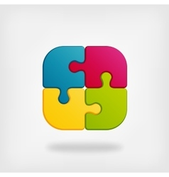 color puzzle creative symbol vector image