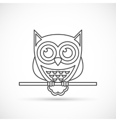 Owl outline icon vector image