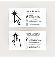 Simple business card templates vector image vector image