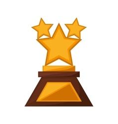 stars trophy awards golden vector image