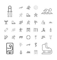 37 athlete icons vector