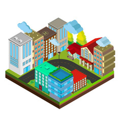 3d design for city scene with buildings vector image