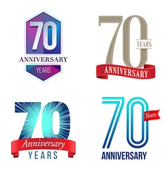 70 Years Anniversary Symbol vector