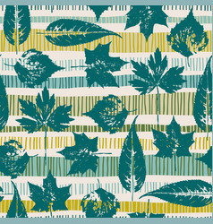 abstract autumn seamless pattern with leaves vector image