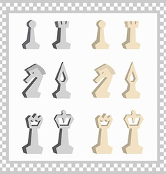 abstract chessmen vector image