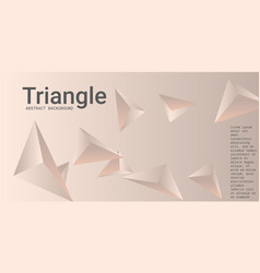 Abstract composition triangle vector