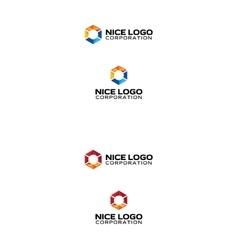 Abstract prism logo vector