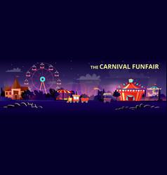Amusement park cartoon of vector