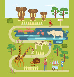 Animals and people vector