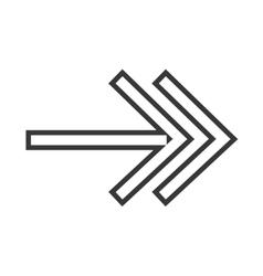 Arrow direction symbol vector