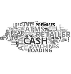 Atms how does the retailer decide text word cloud vector