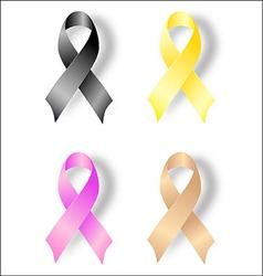Awareness ribbons vector
