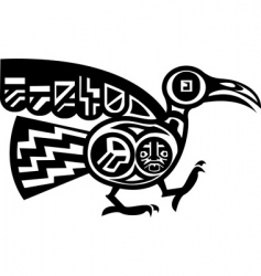 Aztec bird vector