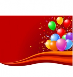 balloons on wave vector image