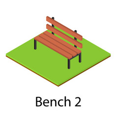 bench icon isometric style vector image