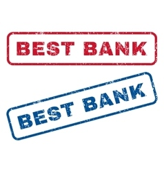 Best Bank Rubber Stamps vector image